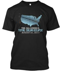 All American Solar Eclipse T Shirt Black áo T-Shirt Front