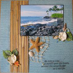 #papercrafting #scrapbook #layout idea: My Beach - Scrapbook.com