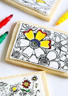 Meet your next #DIY obsession: coloring-book cookies that you bake at home. Find the full tutorial on the Etsy Blog, here.