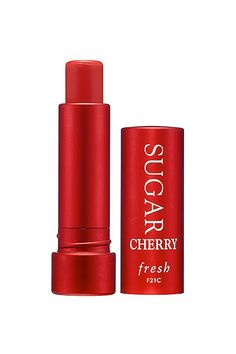 The Best Sheer Reds For Bold-Lip Neophytes #refinery29  http://www.refinery29.com/sheer-red-lipstick#slide4  We're big fans of the tint-free version of this lip treatment, so the addition of a wash of cherry-red color only multiplies our love. Bonus: It heals and protects lips with naturally nourishing ingredients and SPF 15.