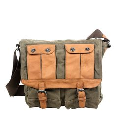 Look at this #zulilyfind! Olive Valley River Messenger Bag #zulilyfinds