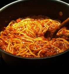 Twirl and Taste: Homemade Spaghetti - My Mother's recipe that's been used for many a fundraising supper over the years.