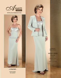 2015 Mint Jacket Ruched Sleeveless Strapless Floor Length Chiffon Mother of the…