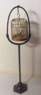 how to: miniature birdcage stand