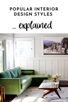 Need help identifying what decor style you like? Here are 9 of the major interior design styles explained! Learn the defining elements of each style. The article includes link to in depth style guides as well, if you're looking for more info! Bohemian Interior Design, Scandinavian Interior Design, Contemporary Interior Design, Interior Styling, Furniture Styles, Furniture Decor, Traditional Interior, Decor Styles, Design Styles