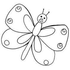 Schmetterling Malvorlagen – OkuloncesiTR Preschool Kindergarten – Join in the world Applique Patterns, Embroidery Applique, Embroidery Designs, Colouring Pages, Coloring Sheets, Butterfly Coloring Page, Easter Story, Butterfly Template, Digital Stamps