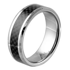 Contemporary Tungsten Carbide Band Ring With Beveled Carbon Fiber Inlay - 8mm Width Stylejewelry http://www.amazon.com/dp/B00DZT83X4/ref=cm_sw_r_pi_dp_9FyTtb0ZBT8T3G6X
