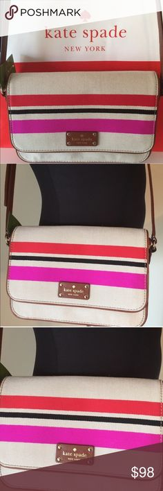 🆕  FLASH SALE KATE SPADE NEW CROSSBODY 💯 AUTH KATE SPADE NEW NEVER USED WITH TAGS SHOULDER / CROSSBODY BAG 100% AUTHENTIC. STUNNING AND STYLISH. SO LOVELY AND PERFECT FOR ANY OCCASION.PERFECT FOR THE WOMAN ON THE GO. WONDERFUL  FOR ANY OCCASION. THIS BAG MEASURES 10 INCHES WIDE BY 7 INCHES TALL AND HAS A LONG ADJUSTABLE SHOULDER / CROSSBODY STRAP. FINAL PRICE NO ADDITIONAL DISCOUNTS kate spade Bags Crossbody Bags