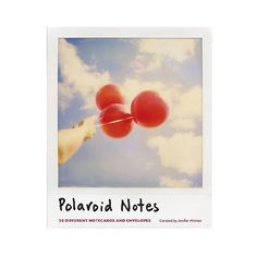 Polaroid Note Set (58 ILS) ❤ liked on Polyvore featuring home, home decor, stationery and multicolored