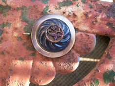 vintage antique button pendant mother of by Suddendeersighting, $22.00