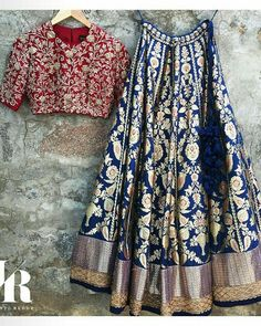 Wedding season on its way! Get yourself dressed with this stunning lehenga designs for women. Browse thousands of similar design and ideas online. Half Saree Designs, Lehenga Designs, Saree Blouse Designs, Mehndi Designs, Blouse Back Neck Designs, Indian Dresses, Indian Outfits, Party Wear Lehenga, Bridal Lehenga