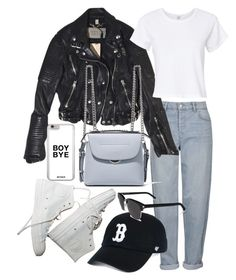 """Untitled #22210"" by florencia95 ❤ liked on Polyvore featuring Topshop, Burberry, Fendi, RE/DONE, '47 Brand and Yves Saint Laurent"