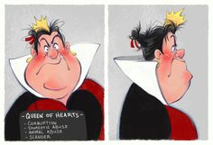 Villain Mugshots  Queen Of Hearts by HaaappyAccidents on Etsy