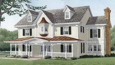 COUNTRY HOUSE PLAN with 3,839 Square Feet, 4 Bedrooms, 3-1/2 Baths, 2 Garage Bays, 2 Stories from Dream Home Source | House Plan Code DHSW73223