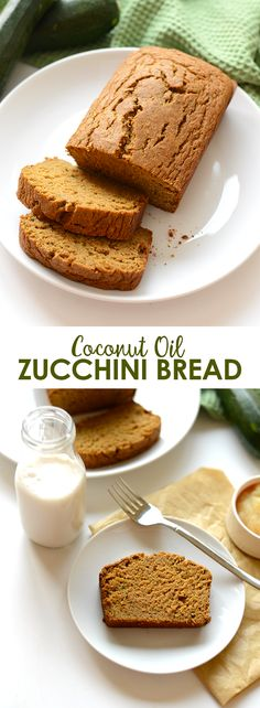 Have too many zucchinis in the garden? Make yourself some delicious coconut oil zucchini bread made with 100% whole grains and no butter!
