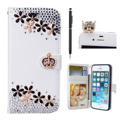 LG K10 Case, Best Seller Mellonlu PU Leather [ Card Slot ] Flip Wallet Bling Magnetic Case Cover for LG K10, Free Gift Dustproof Plug and Stylus Pen