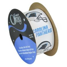Carolina Panthers ribbon (1 5/16 inch width X 12 feet) Sold by the Spool
