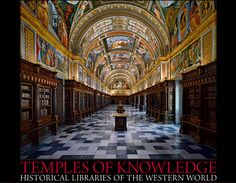 Royal Library, El Escorial Monastery, Spain from the limited edition BOOK: Temples of Knowledge: Historical Libraries of the Western World ©  AHMET ERTUG (PhotoArtist, Author). Shop site: http://www.biblio.com/books/245933899.html Photo site: http://www.templesofknowledge.com/ [Do not remove caption. The law requires you to credit the photographer. Link directly to his website.]  The Golden Rule: http://www.pinterest.com/pin/86975836527744374/