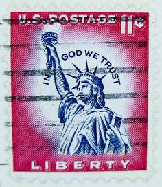 Stamp USA us 11c cent postage Lady Liberty postage. Via Flickr.
