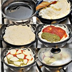 I tried this with GF flour and it was Amazing and only took ten mins to cook. Ingredients: 1 cup self raising flour, 2 tbsps olive oil pizza sauce, mozzarella cheese plus ml) water I give it a Pizza In A Pan Recipe, Pizza Recipes, Stovetop Pizza, Slow Cooker Recipes, Cooking Recipes, Cast Iron Recipes, Good Food, Yummy Food, Food Categories