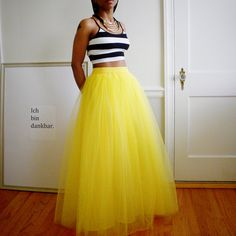 Yellow Maxi Tulle Skirt  Adult Tutu Cute Skirt Long by 2live2love-$154.00