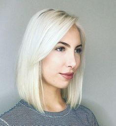 Perfect bleach and tone by Rosalie and precise, elegant bob by Phoenix at Van Michael Midtown salon.