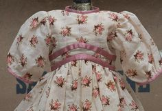 Antique French Original Silk & Cotton Dress for Jumeau Bru Steiner from respectfulbear on Ruby Lane