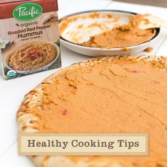 Making a delicious pizza doesn't have to mean sacrificing nutritional ingredients! Try using our Organic Roasted Red Pepper Hummus, blended with chickpeas, tahini, sweet roasted red peppers and a touch of fresh garlic, as a healthy spread alternative to regular sauce.