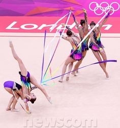rhythmic gymnastics team Gymnastics Photos, Gymnastics Team, Rhythmic Gymnastics Leotards, Rainbow Costumes, E Sport, Ballet, Sports Stars, World Of Sports, Ice Skating