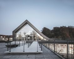 Gallery - Mariehøj Cultural Centre / Sophus Søbye Arkitekter + WE Architecture - 30 Architecture 101, Cultural Architecture, Futuristic Architecture, Contemporary Architecture, Trade Center, Green Landscape, Cultural Center, Facade, Centre