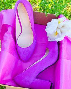 Jane Women's High Heel Suede Wedding Shoes Green Pink