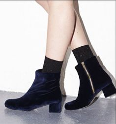 Ganni velvet boots from Holiday collection