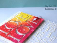 lucky in love Puffy Embossing powder, Water splat technique TAWS card Start to Finish - YouTube