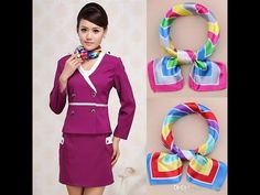 how to wear scarf in formal/official !! as like Cabin Crew !! 2017 - YouTube