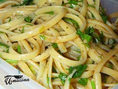Spaghetti z oliwą i czosnkiem