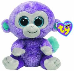 *Ty Beanie Boos* Type: Monkey Name: Blueberry Birthday: November 13th Introduced: 2010 Retired: December 31, 2013