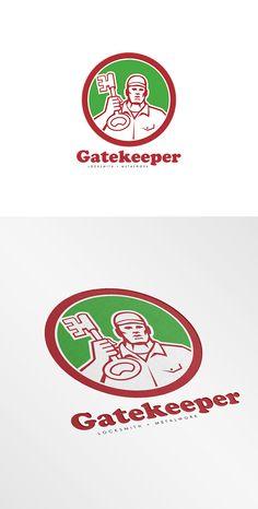 Check out Gatekeeper Locksmiths Logo by patrimonio on Creative Market