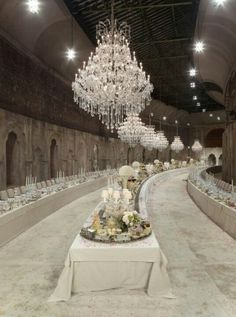 Channel fashion show... Stunning set up