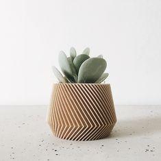 Minimalist Geometric Wood Planter for succulent or cactus / Indoor planter OSLO Scandinavian decor Hygge Original gift for her him