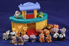Fischer-Price Little People Noah's Ark and Animals Christian Bible Toddler Toy Lot #FisherPrice #LittlePeople