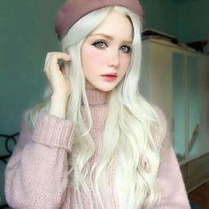 Blonde – My hair and beauty Aesthetic Makeup, Aesthetic Girl, Nordic Aliens, Nordic Blonde, Caucasian Girl, Silver Blonde Hair, Kim Jisoo, Kawaii Girl, Girl Face