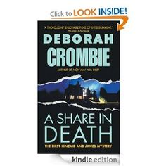 """Book 31/50, """"A Share in Death"""" by Deborah Crombie. A rapid page-turner introducing Detective Superintendent Duncan Kincaid and Sergeant Gemma James of Scotland Yard. Strong characters and urgent plotting made this a good read."""