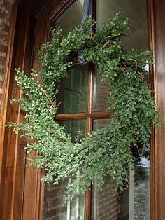 DIY Greenery Wreath for your front door...a little sign of hospitality!