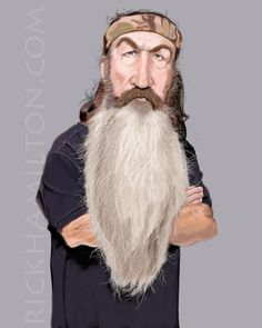 """Phil Robertson from """"Duck Dynasty""""   (by Rick Hamilton)"""