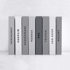 Simple & gray. Spines   @PenguinUKBooks design by Sarah Urquhart http://www.urkadesign.com/#/bookcovers/  via @thinkstudionyc