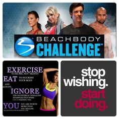 Join Team Beach body today! 60 day challenge to what ever workout DVD. Program we offer!! P90x, 20 Day fix, Insanity, Hip Hop Abs, Focus T25, and more! Contact me today or comment below!   Visit my site at :  TeamBeachBody.com/JessicaLG91 Shakeology.com/JessicaLG91