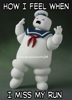 Miniature Plastic Cities Will Tremble Before Figuarts' Stay Puft Marshmallow Man Running Humor, Running Quotes, Running Motivation, Gym Humor, Workout Humor, Funny Running, Workout Quotes, Workout Tips, I Love To Run