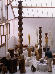 Amazing! This is a diorama of Constantin Brancusi's Montparnasse studio by Joe Fig.