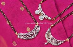 Diamond Mangalsutra, Gold Mangalsutra Designs, Diamond Jewellery, Cartier Jewelry, Jewellery Designs, Jewelry Patterns, Jewelery, Real Diamond Necklace, Diamond Pendant