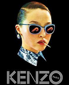 devon aoki for Kenzo's Spring 2014 Ad Campaign.